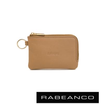 RABEANCO 迷時尚系列鑰匙零錢包 深駝