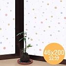 ★促銷★〔日本MEIWA〕抗UV靜電窗貼 (和風彩球)46x200公分