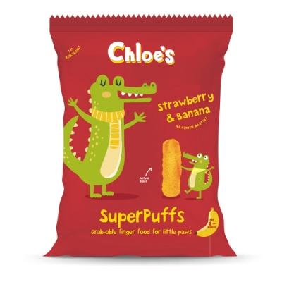 英國進口 Chloe s 克蘿伊幼兒胖牙餅(草莓香蕉) 20g/包
