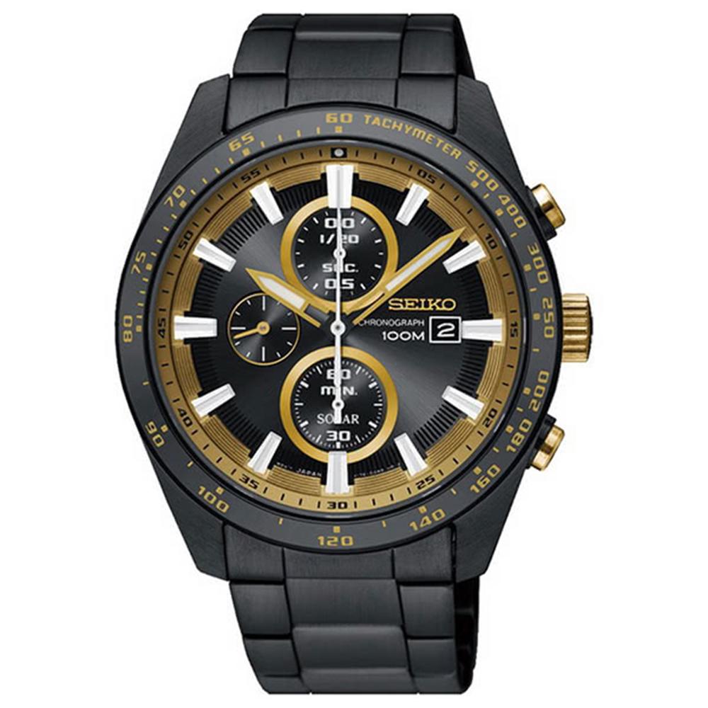 SEIKO精工CRITERIA黃蜂太陽能運動腕錶V176-0AV0K/SSC659P1