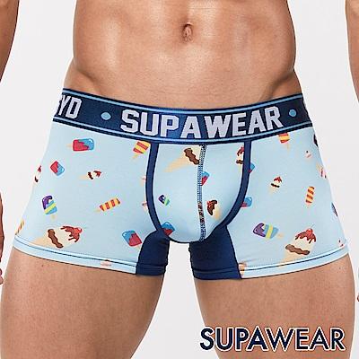 SUPAWEAR 美味系列超彈性型男四角內褲(冰淇淋-水藍)