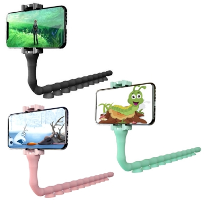 Cute Worm 手機支架 創新百變新設計 360度自由旋轉 展示架 置放架 固定架