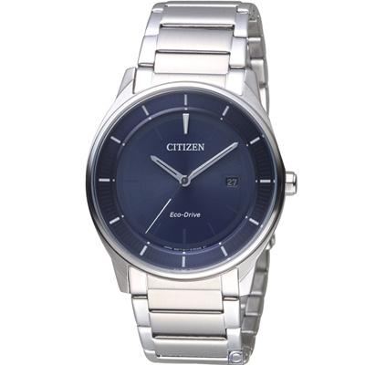 CITIZEN星辰 簡約時尚光動能腕錶(BM7400-80L)藍/40mm