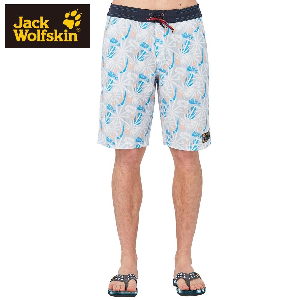 【Jack Wolfskin 飛狼】男 彈性快乾休閒短褲『淺灰』