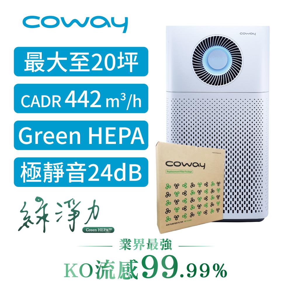 Coway 20坪 綠淨力噴射循環空氣清淨機 AP-1516D+二年份濾網組送sunbeam保暖墊