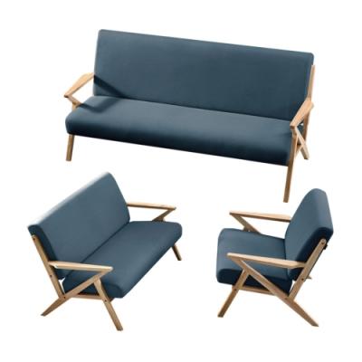 文創集 姆斯  現代科技布料沙發椅組合(二色可選+1+2+3人座組合)-169x77x80cm免組