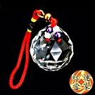 (超值2入組) 紅運當家 切面水晶球吊飾 (大)