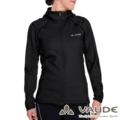 【德國 VAUDE】女款抗風內層刷毛保暖連帽彈性休閒外套VA-05703黑