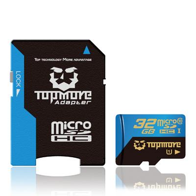TOPMORE 32GB microSDHC Class 10 記憶卡 附SD轉卡