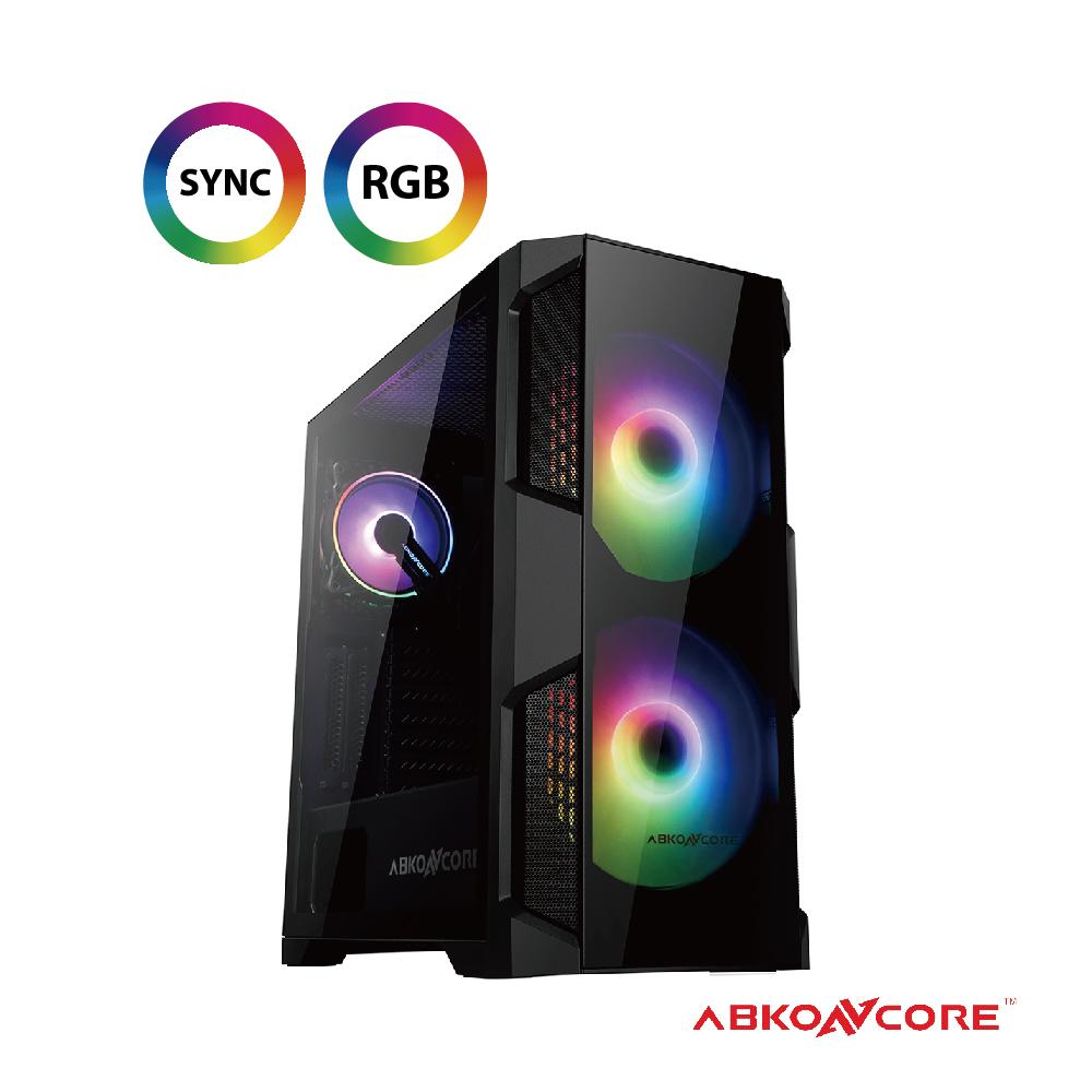 【ABKONCORE】赫利奧500G RGB玻璃 EATX機殼 60種以上燈效