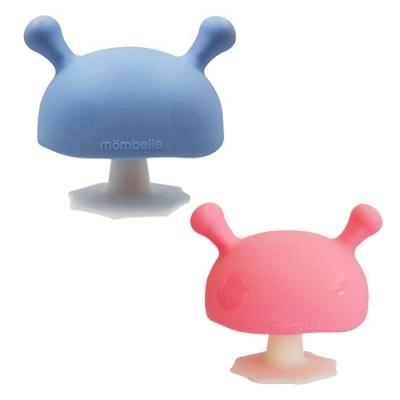 英國 Mombella Q比小蘑菇固齒器 (粉紅/粉藍任選)