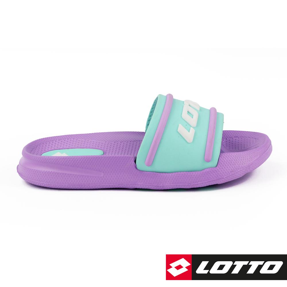 LOTTO 義大利 童  Summer Play 兒童輕量拖鞋 (紫)