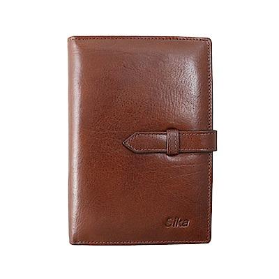 Sika義大利時尚牛皮護照夾-A8218-02深咖啡