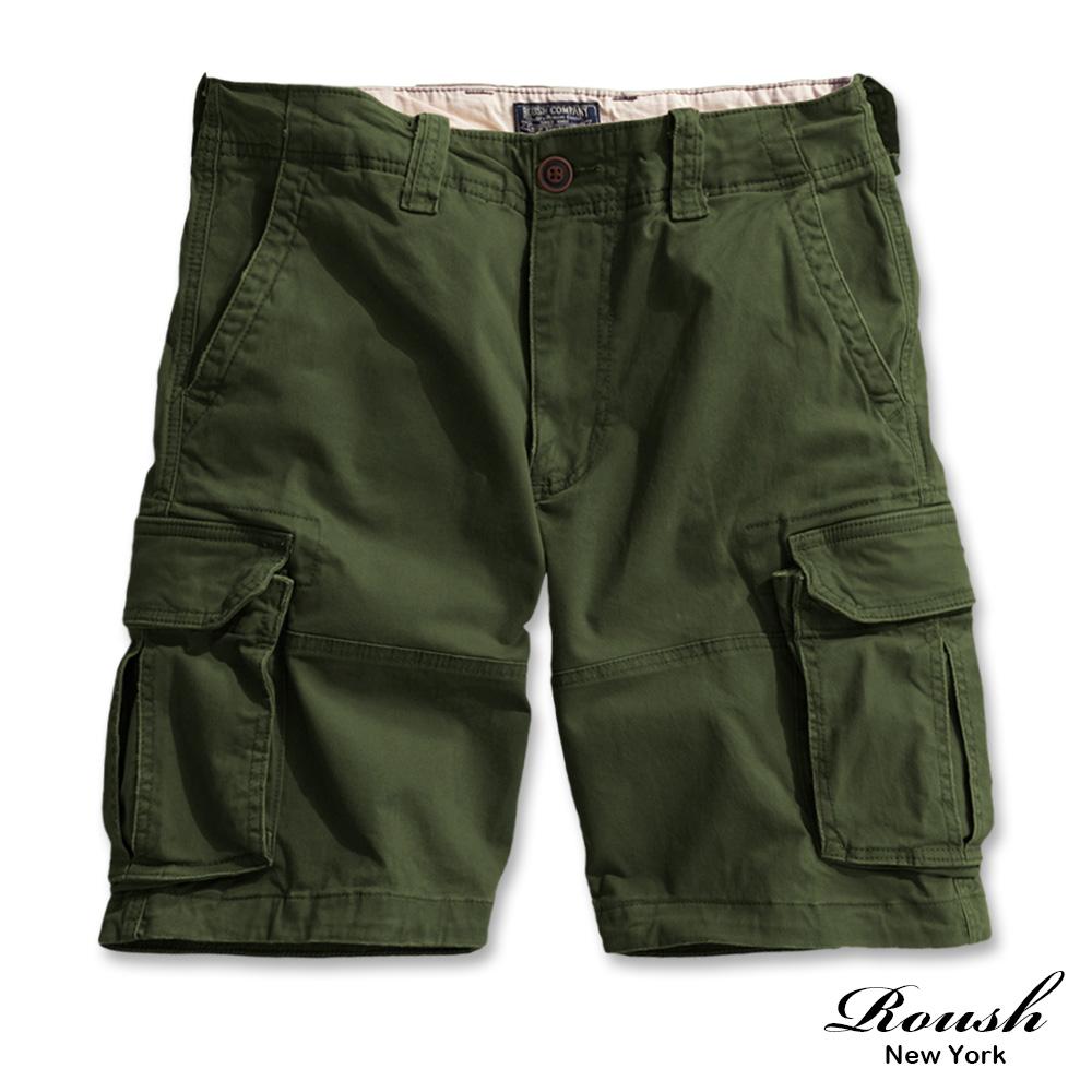 Roush 厚磅工裝側口袋重水洗短褲(5色)