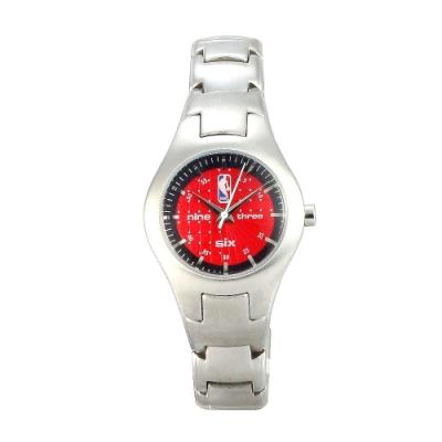 NBA 美國職籃 運動休閒腕錶-紅/30mm