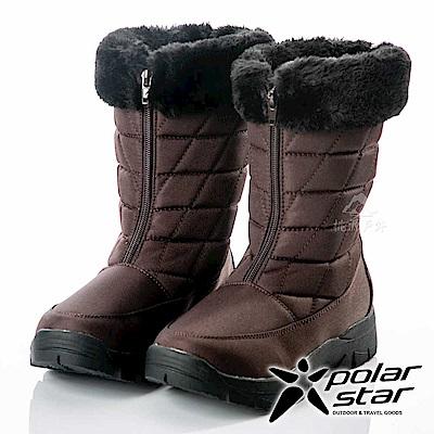 PolarStar 女保暖雪鞋『棕』P18630 冰爪 / 內厚鋪毛 /防滑鞋底