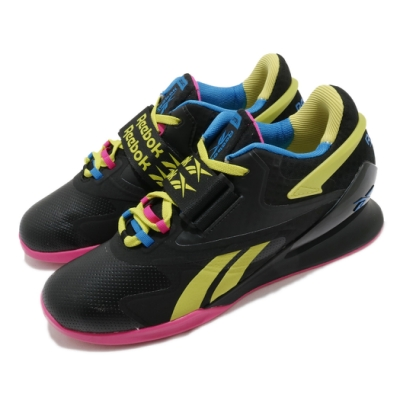 Reebok 訓練鞋 Legacy Lifter II 運動 男鞋 健身房 重量訓練 支撐 穩定 球鞋 黑 黃 粉 FU9462