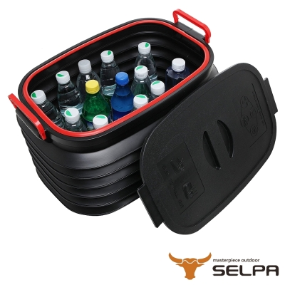 韓國SELPA 37L伸縮折疊收納桶 超值兩入組