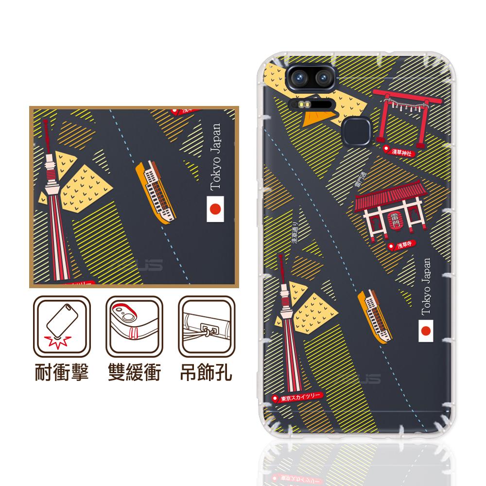 反骨創意 華碩Deluxe/Zoom系列 彩繪防摔殼-世界旅途(昭和町)