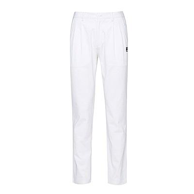 FILA 男款平織長褲-白 1PNS-5706-WT