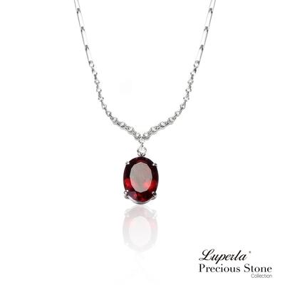 大東山珠寶  頂級尊爵皇家珠寶 玫瑰紅錳鋁榴石真鑽18K白金項鍊