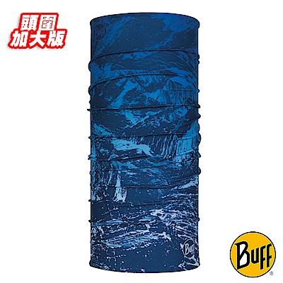 《BUFF》Plus加大版經典頭巾-藍色山岳 BF117979-707