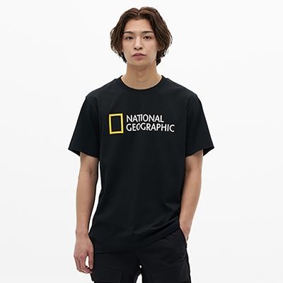 NATIONAL GEOGRAPHIC NEODY BIG LOGO 男女 短袖T恤 炭黑-N215UTS020198