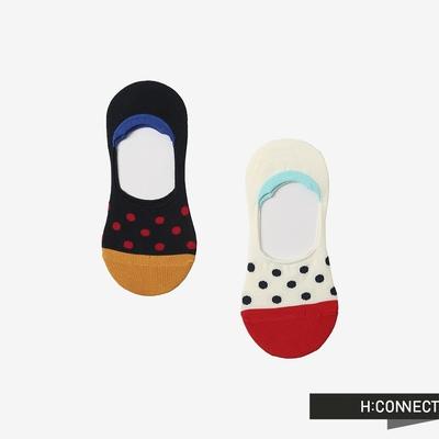 H:CONNECT 韓國品牌 女裝 -小圓點女隱形襪組