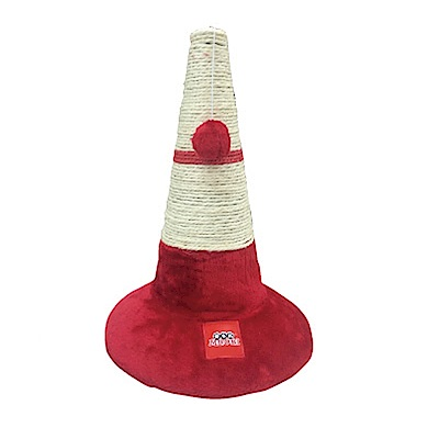 MDOBI摩多比-貓丸家 麻繩貓抓柱 三角路錐造型-紅色款