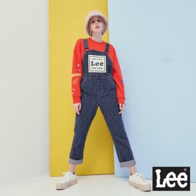 Lee 牛仔線條吊帶長褲 RG 女款 深藍色