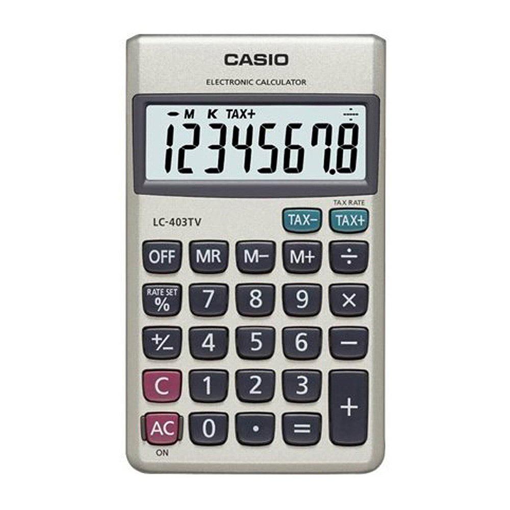 CASIO  8位數大螢幕攜帶型計算機-(LC-403TV)