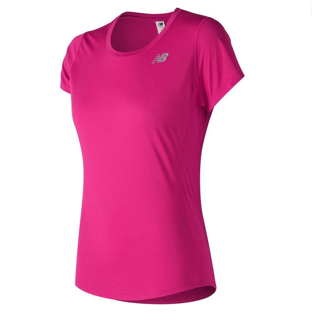 New Balance 短袖上衣 AWT73128PGL 女性 桃紅