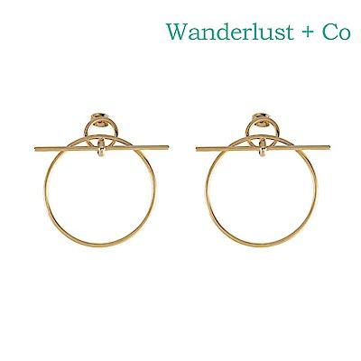 Wanderlust+Co 幾何圓形金屬耳環