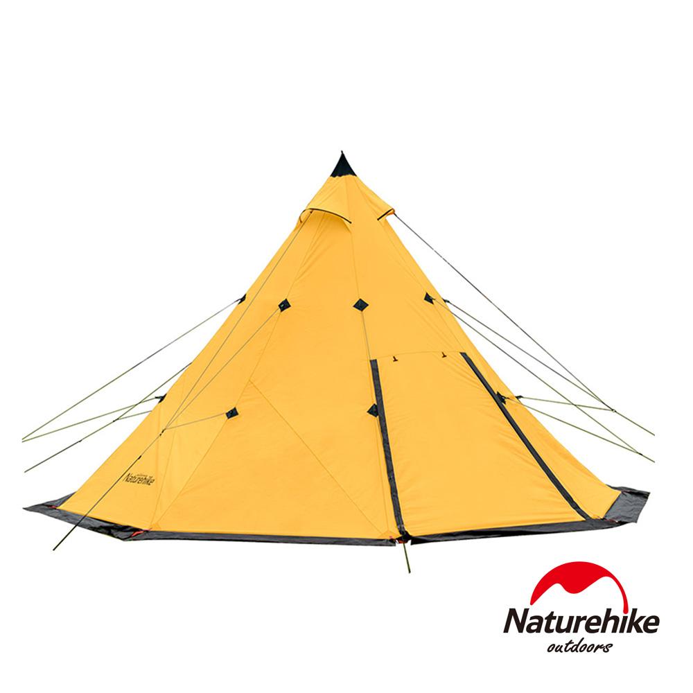 Naturehike 金字塔八角雙層帳篷 印地安露營帳3-4人 藤黃色
