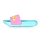 DIADORA 中童運動拖鞋 淺藍粉紅黃