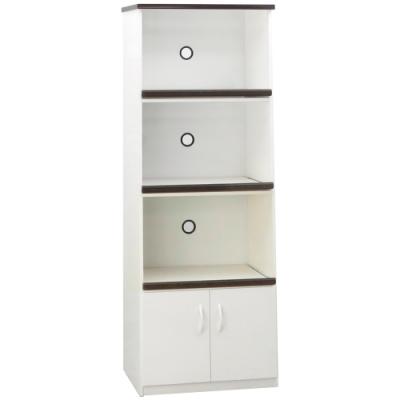文創集 森活環保2.7尺塑鋼二門三格餐櫃/收納櫃(二色)-66x43x180cm免組
