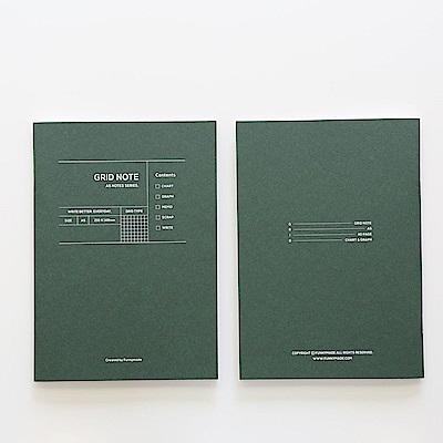 Funnymade 大人計劃A5補充本-方格眼筆記本(綠)