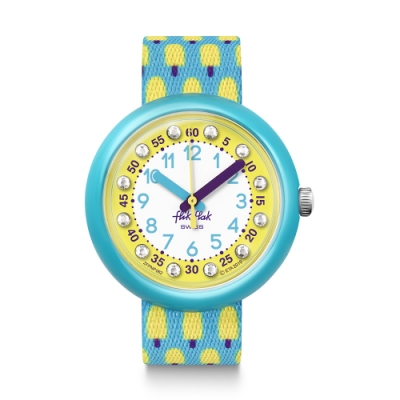 FlikFlak 兒童錶 LEMON FREEZE 檸檬冰棒-34.75mm