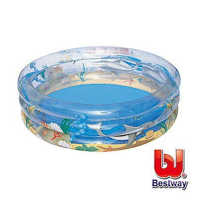 凡太奇 Bestway 海洋生物透明充氣泳池/戲水池 51045 - 速