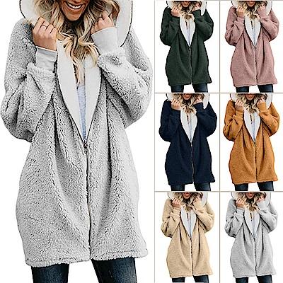 Lockers 木櫃 羊羔絨拉鍊開衫保暖外套(六色)