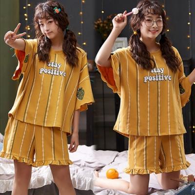 【韓國K.W.】(預購)條紋夏日假期套裝褲-1色