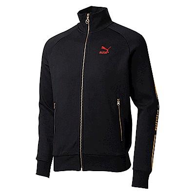 PUMA-男性流行系列LUXE立領外套-黑色-亞規