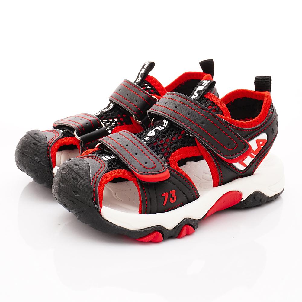 FILA頂級童鞋 護趾涼鞋款 FO56T-022黑(中小童段)