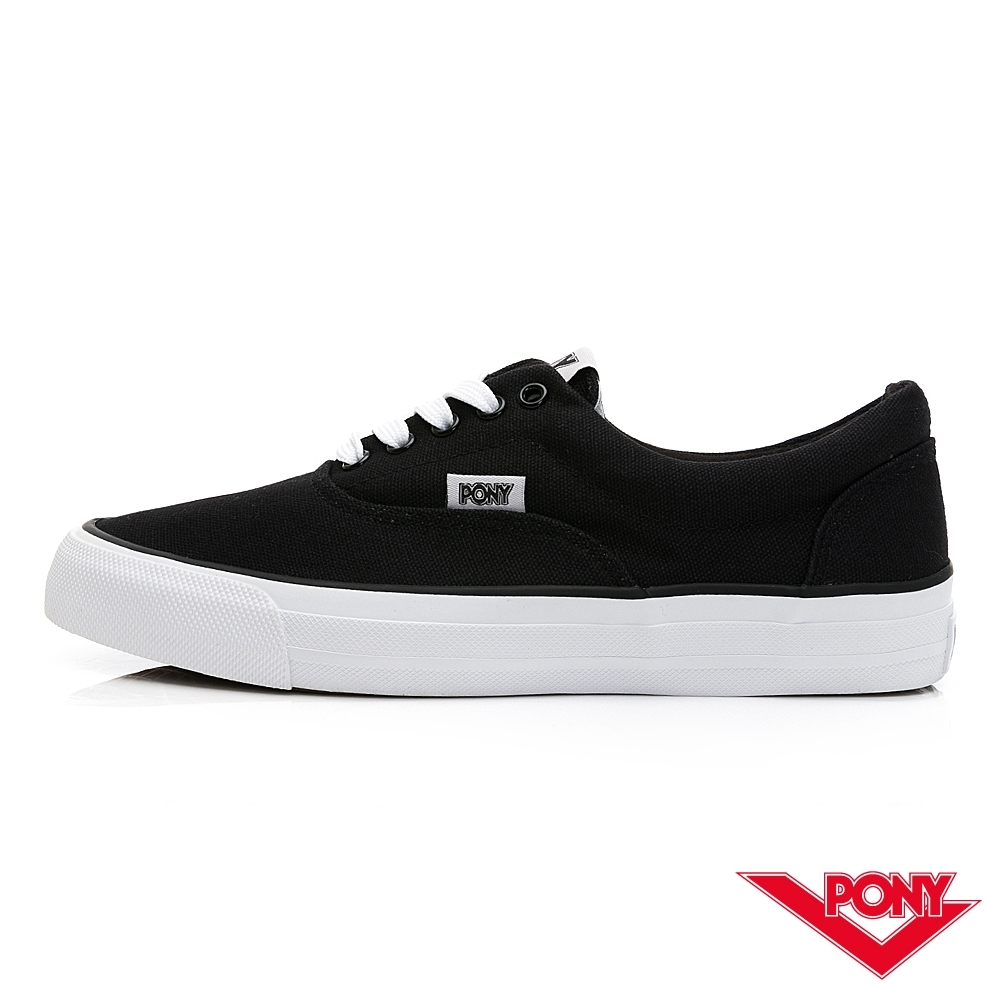 【PONY】SUBWAY-S系列-滑板鞋 帆布鞋-女-黑色