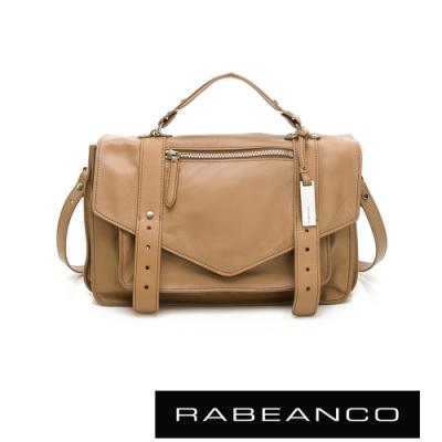 RABEANCO Modern現代美學系列雙飾帶包(小) 深駝
