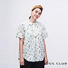 MOSS CLUB INLook 小蕈菇印花短版襯衫(藍色)