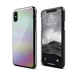 elago iPhone X 鍍銀半透明手機保護殼-銀色