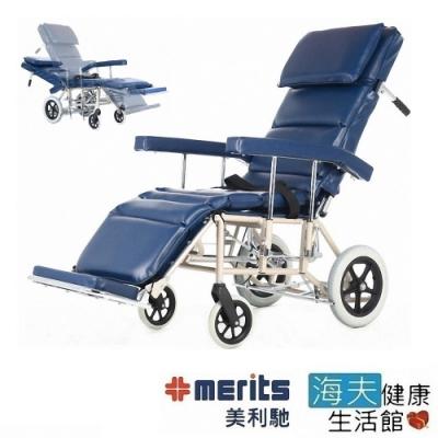 海夫健康生活館  健康行 全躺 看護型 輪椅 J610