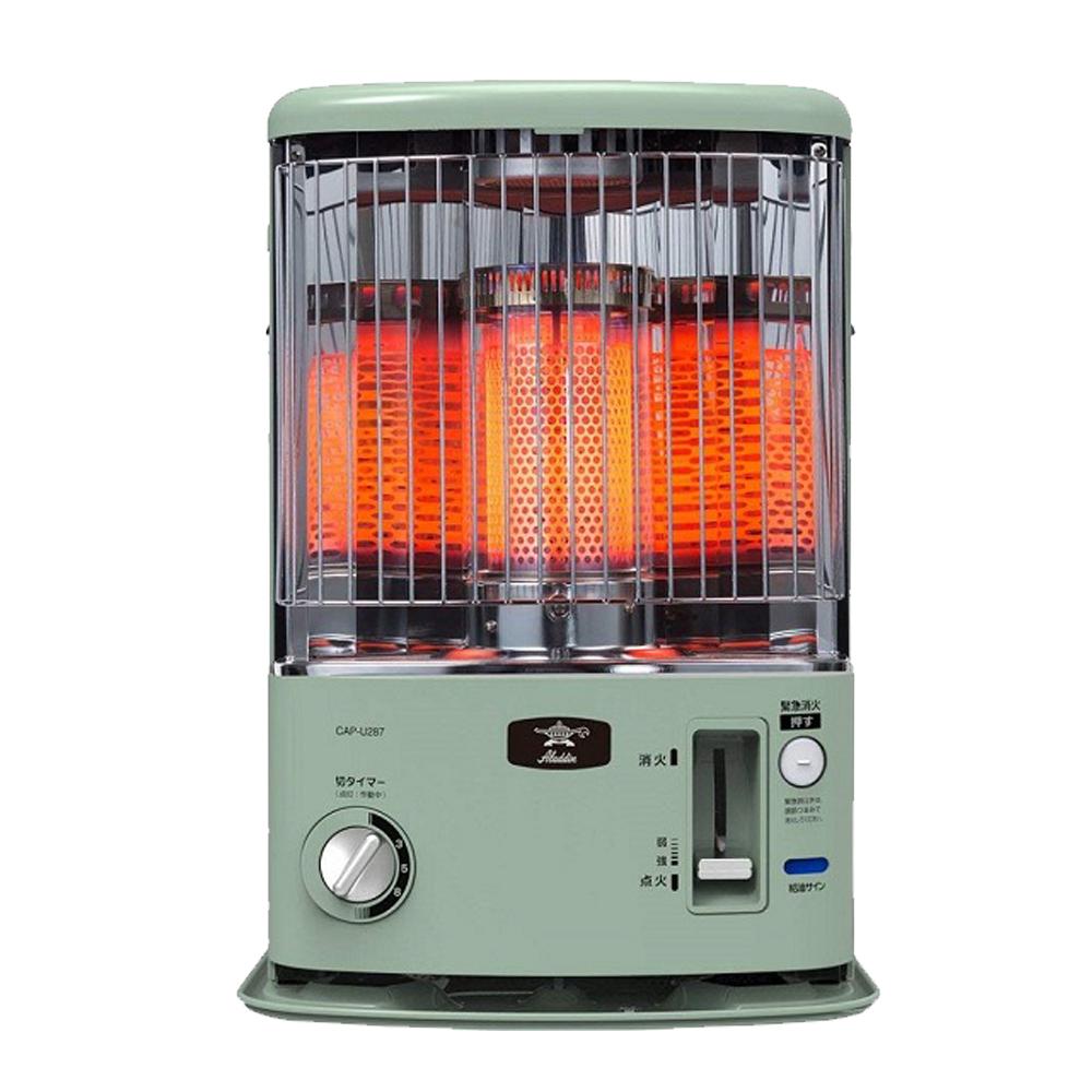 日本ALADDIN阿拉丁煤油爐 CAP-U288G 廣角多面反射板暖房更快速