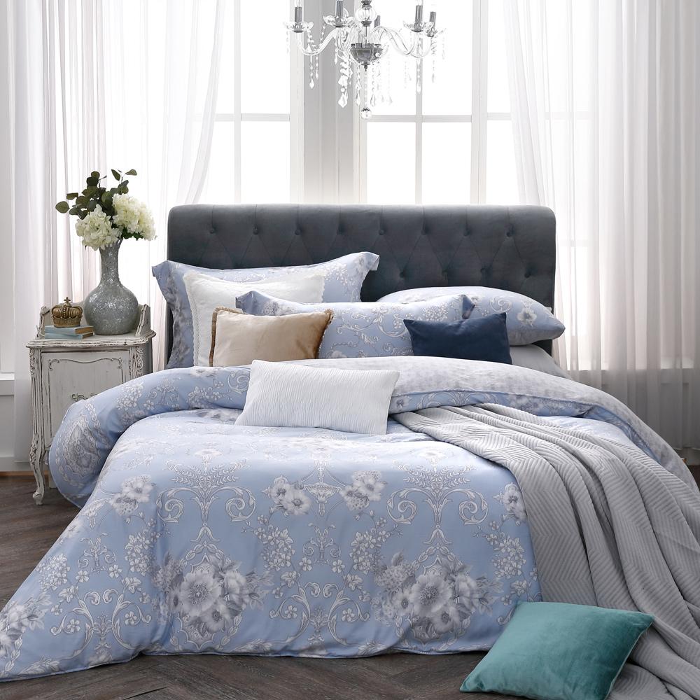 BBL Premium 古典花語100%萊賽爾纖維天絲印花兩用被床包組(加大)